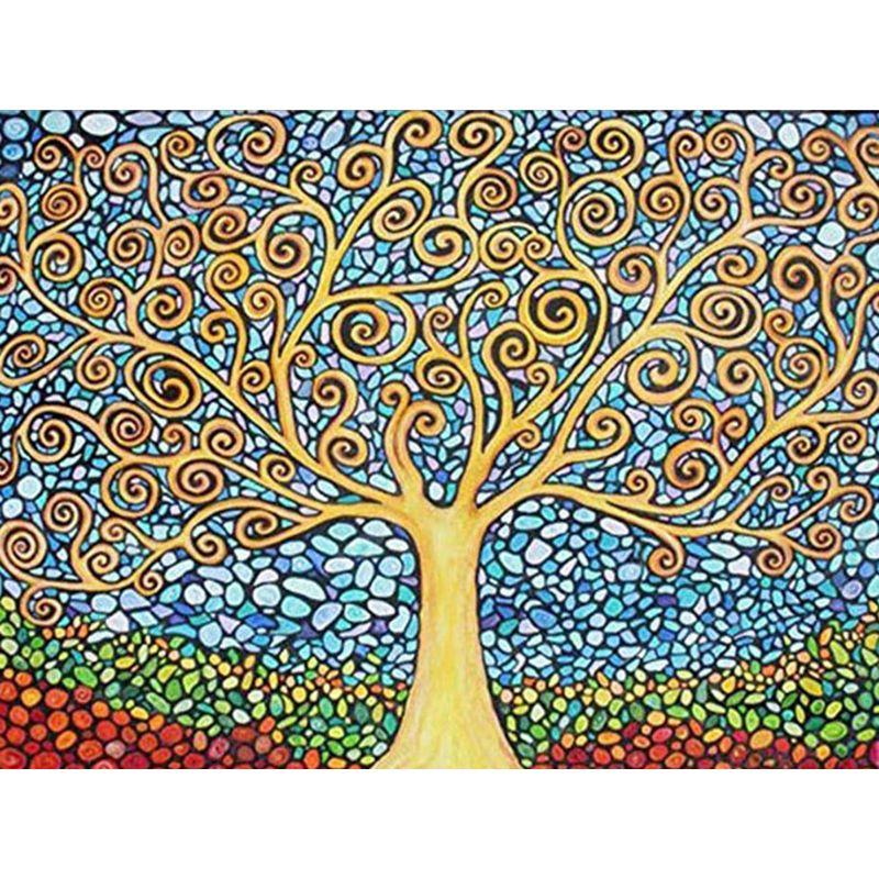 Мечтательный Дерево завод Полный Дрель 5D Алмазный Круглый Rhinestone вышивки Картина DIY вышивки крестом Kit Мозаика Draw Home Decor подарок