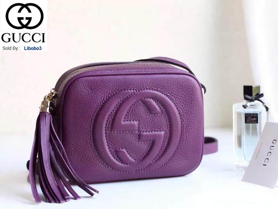 libobo3 Leder Quaste Reißverschluss Kameratasche 308364 deep purple Frauen Handtaschen Top-Griffe Schultertaschen Totes Abend Umhängetasche