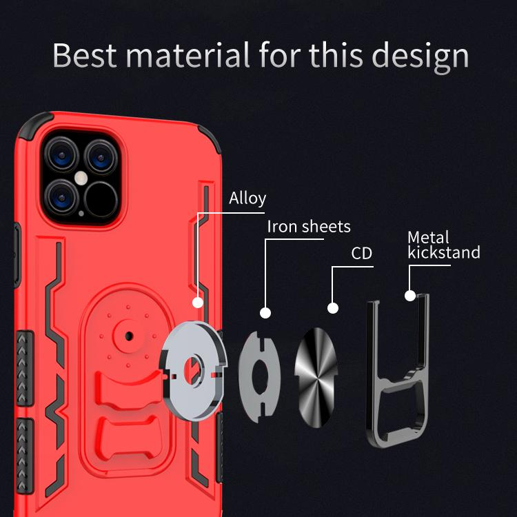 Phone case For iphone 12 pro max with Kickstand 2 in 1 tpu +pc +metal ring esigner iphone case phone ring holder