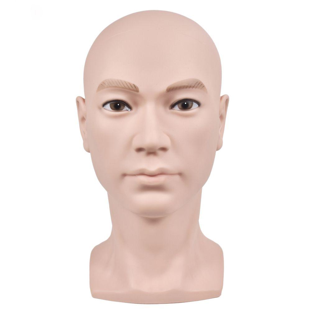 소프트 PVC 대머리 가발 만드는 마네킹 훈련 헤드 가발 스탠드 디스플레이 네일 아트 핸드 훈련 실무 CX200716