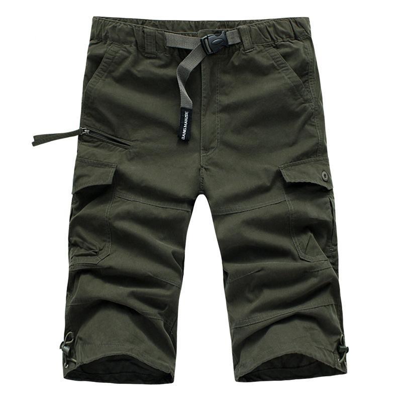 Yaz Erkek Baghee Çok Pocket Serbest Kargo Şort Doğa Sporları Kamp Diz Boyu Taktik Kısa Pantolon