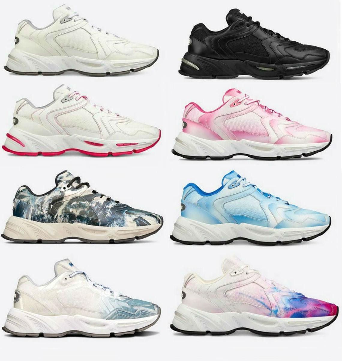 design di lusso scarpe CD1 scarpe casual migliori scarpe delle donne di pendenza sneakers in pelle di vitello riflettente