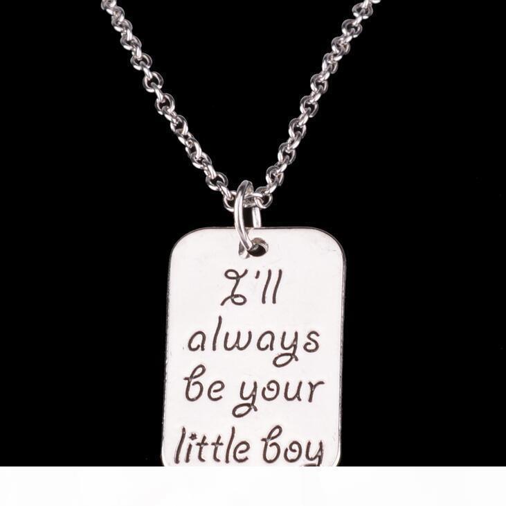 P Лучшего подарок Продажа мальчик девочка папа герой семья рождественские подарки площадь ожерелье Wfn018 (с цепью) Смешать заказ 20 шт A Lot