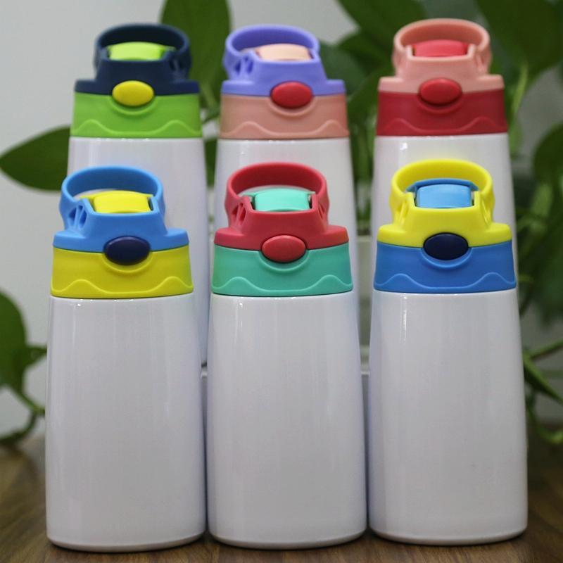 Sublimation Sippy Cup 12oz 350ml Blank Kinderflasche Niedliche Doppelwand Edelstahl Tumbler Wasser Tassen in Großspeicher für Kinder Kleinkind Container Großhandel