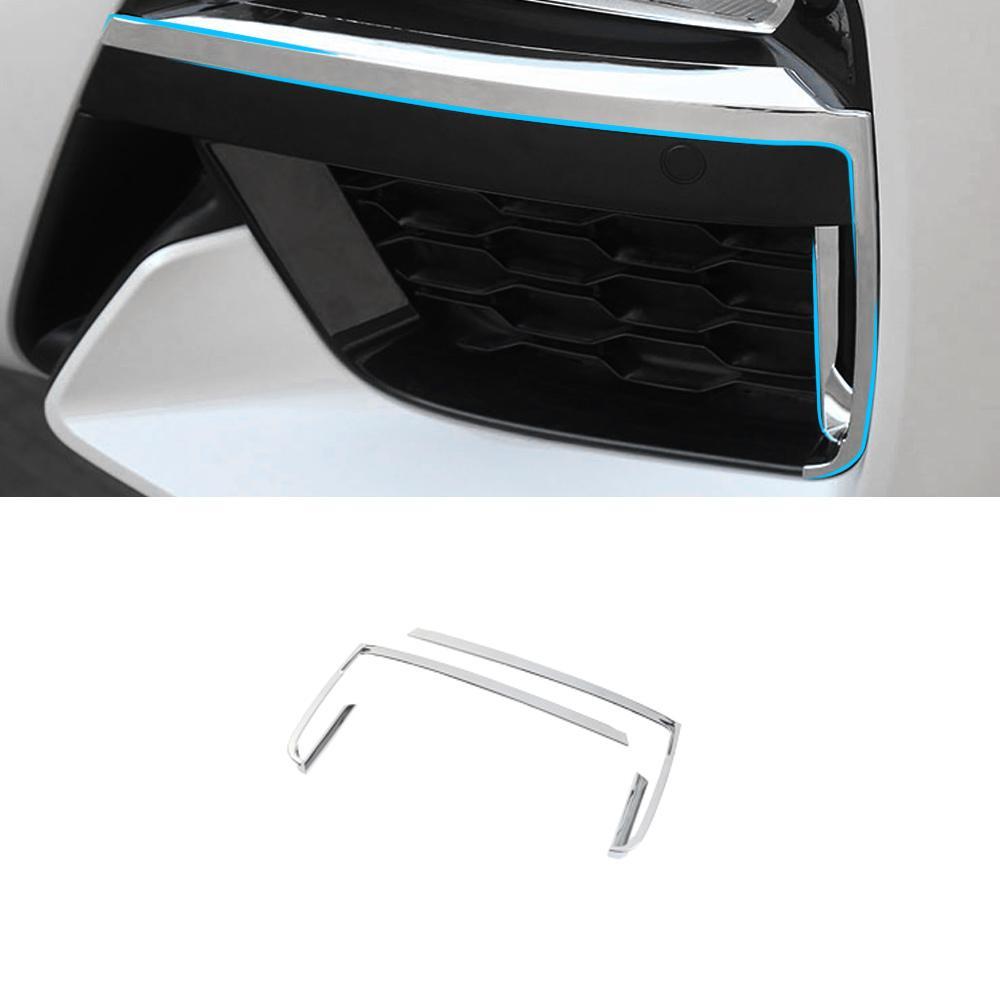 Pour BMW X3 G01 X4 G02 2017-2020 voiture avant Phares antibrouillard Protecteur Garde cadre décoration Garniture autocollant extérieur Accessoires