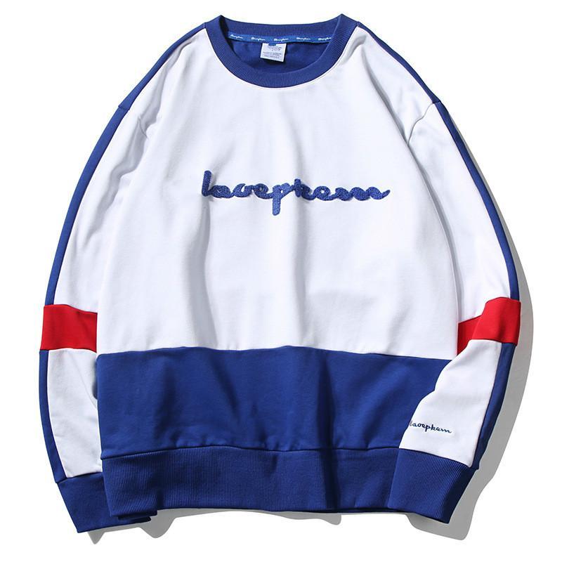 Maglione modelli primavera e autunno degli uomini a maniche lunghe maglione delle nuove donne di modo con la lettera ricamo incappucciati giacca- uomini allentati di tendenza