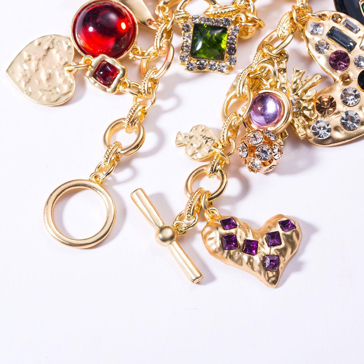 Exagerada agua femenina acrílico brazalete de diamantes pulsera de gotas de resina en forma de amor, de estilo bohemio