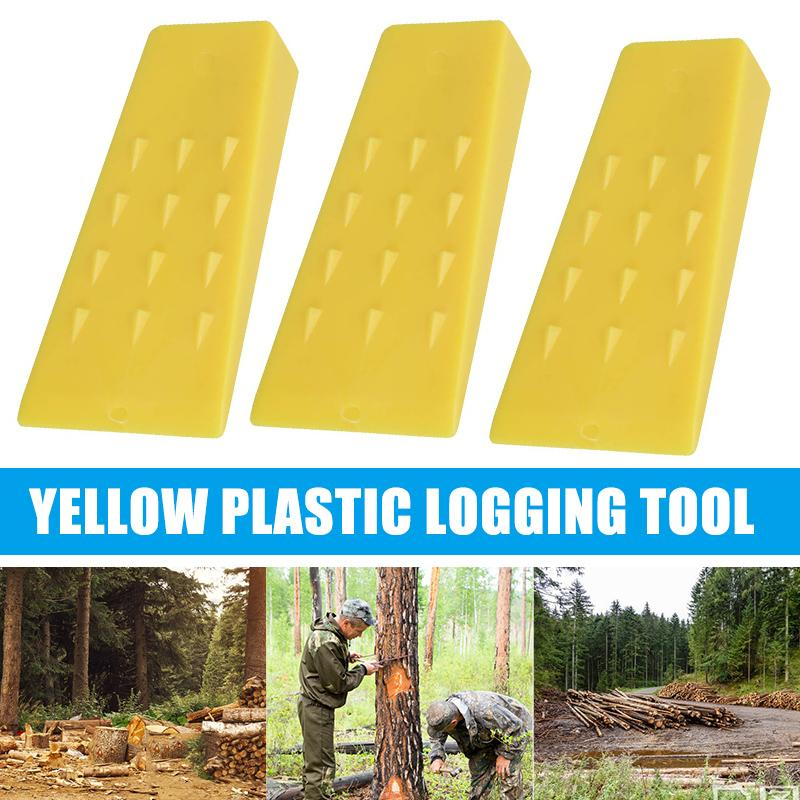 5/8 Inch Plastic Yellow Wedges Chainsaw Parts For Logging Falling Cutting Cleaving Tool