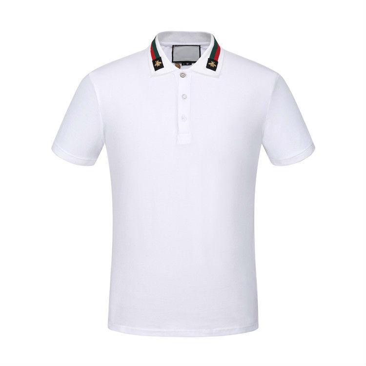 xshfbcl 2020 Camicie progettista polo T Uomo Abbigliamento T-shirt Blu Nero Bianco delle donne degli uomini Slim Medusa France Parigi