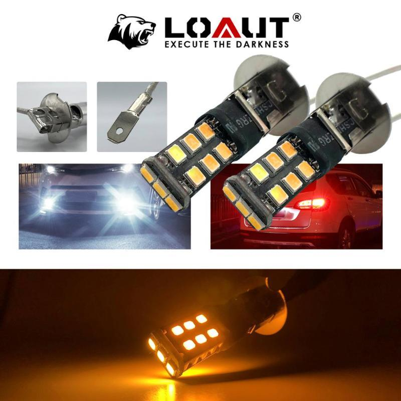 H3 LED Bulb Super Bright 3258 9SMD Amber yellow Car Fog Lights 12V 24V 6000K White Driving Day Running Lamp Auto OEM replacement