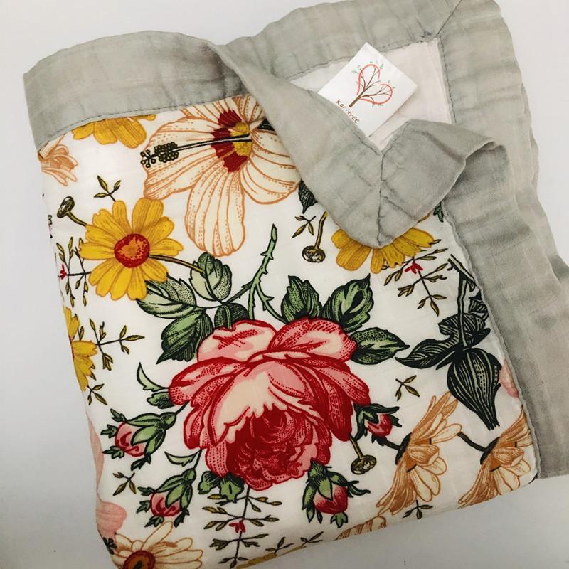أربعة طبقة الخيزران الطفل الشاش بطانية الشاش قماط شجرة أفضل من عدن أنيس الطفل / الخيزران غطاء الرضع التفاف