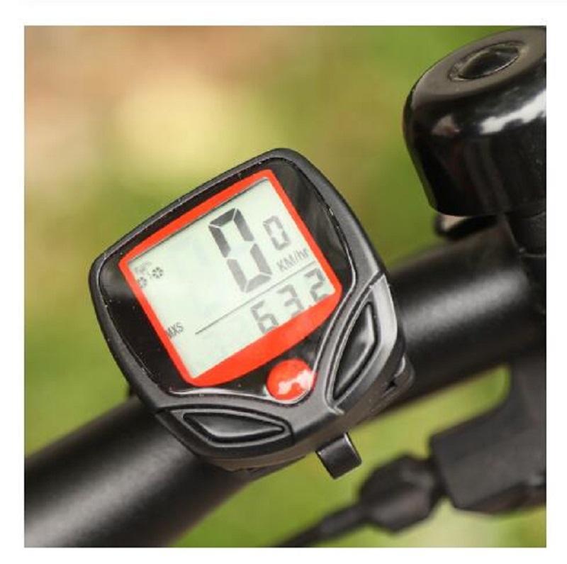 2020 Ordinateur de vélo Ordinateur de vélo LCD numérique Chronomètre étanche compteur vélo vitesse vélo Accessoires vélo Compteur de vitesse