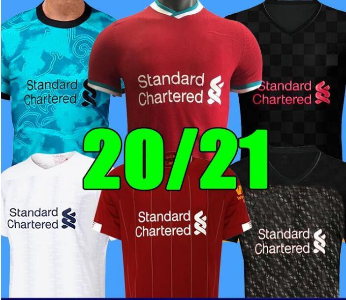 Lİverpool Mohamed M. Salah 2020 2021 Fußballhemden Fußball Jerseys an Namen und die Nummer schnelles Verschiffen hochwertig 2021 weg blau