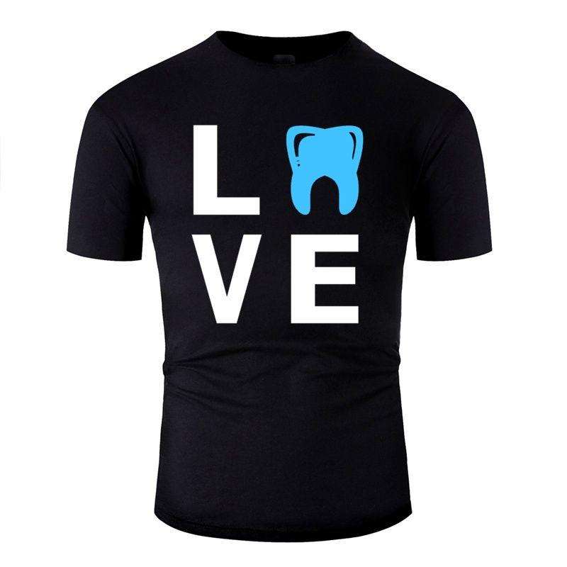 Designs dentiste médecine dentaire travail anniversaire amour Tooth T-shirt Cadeau Homme 100% coton pour hommes T-shirts O Neck 2019 Pop Top Tee