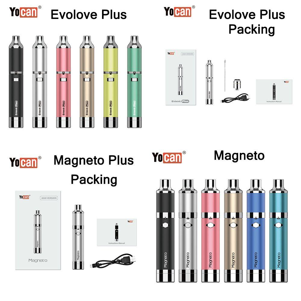 Yocan Evolve Plus Dry Herb Wax Starter Kit Yocan Magneto cire Pen herbe sèche Vaporisateurs Starter Kits avec batterie 1100mah