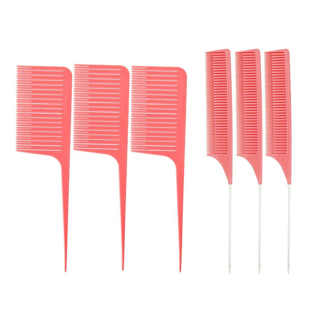 6x fina toothWide-dentada armadura Destacar frustrar peina el pelo para el salón