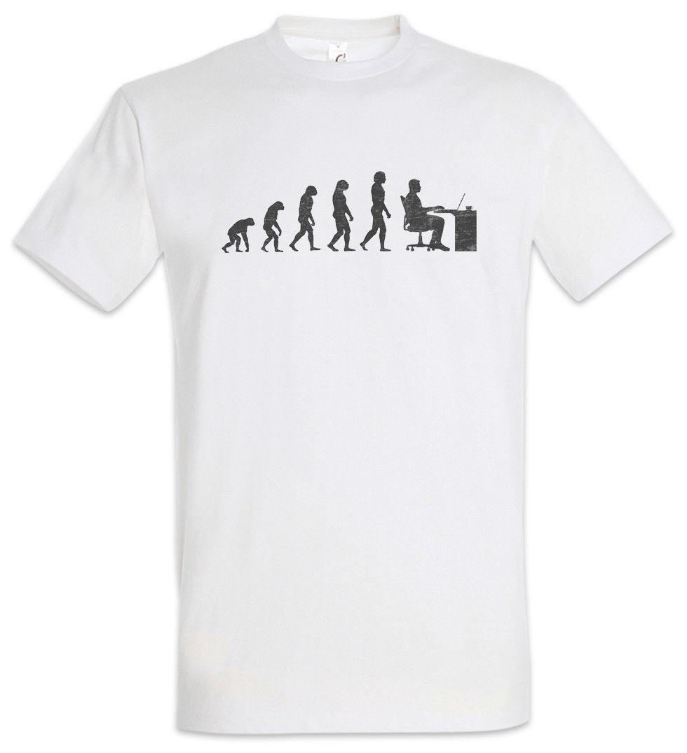 Office Evolution T-Shirt Fun Geek Nerd Computer Science Scientist Coder Gamer
