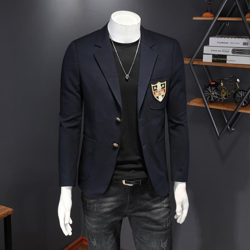 Butik erkek giyim sonbahar 2020 yeni rahat uygun erkek moda markası küçük takım elbise trendy moda rahat Shanxi giysi