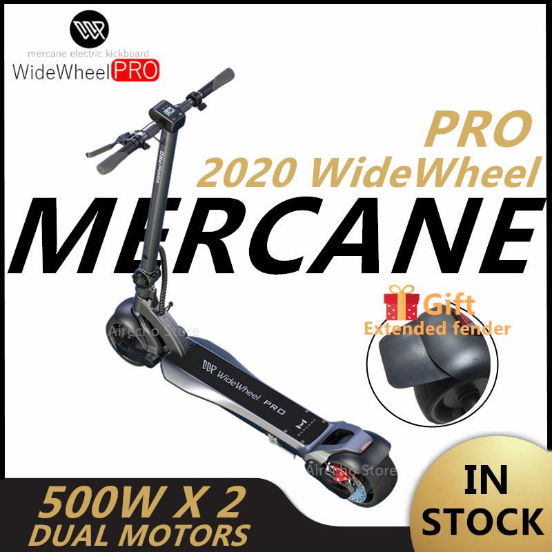 EU 주식 Mercrane Widewheel Pro 스마트 전기 스쿠터 48V 1000W Kickscooter 와이드 휠 듀얼 모터 디스크 브레이크 스케이트 보드 와이드 휠 스쿠터