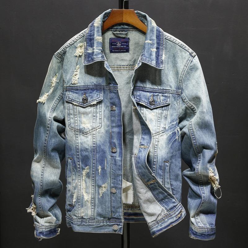 Casual personifizierte Allgleiches Art und Weise slim fit Casual Denim Jacke der Männer Allgleiches Art und Weise dünne passende Männer Jeansjacke personalisierte