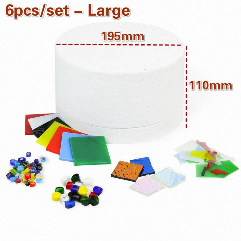 1/6 / 10pcs / set Kit de herramientas del horno de microondas Juego profesional de fusión del vidrio manchado suministros del kit de bricolaje accesorios de cerámica Suministros Pshr #