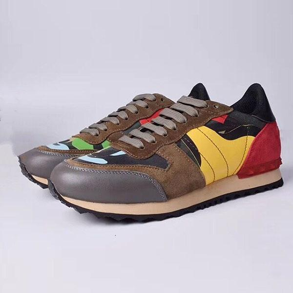 printemps automne nouveaux amants de rivets camouflage multicolore chaussures de sport chaussures casual chaussures confortables à la mode laçage de sport respirant de ua02