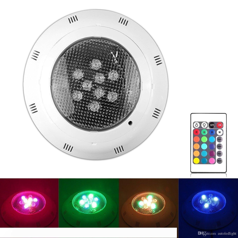 Luce subacquea Piscina SPA 9W LED luminoso colorato RGB Telecomando IR 12w 15w 18w