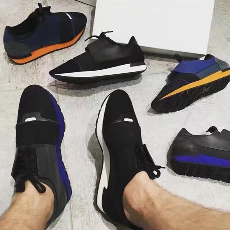 2019 Qualitäts-Rennen Runner Schuh-Frauen-beiläufige Schuh-Mann Art und Weise bunten Patchwork-Ineinander greifen Mischfarben Trainer Turnschuhe mit Kasten