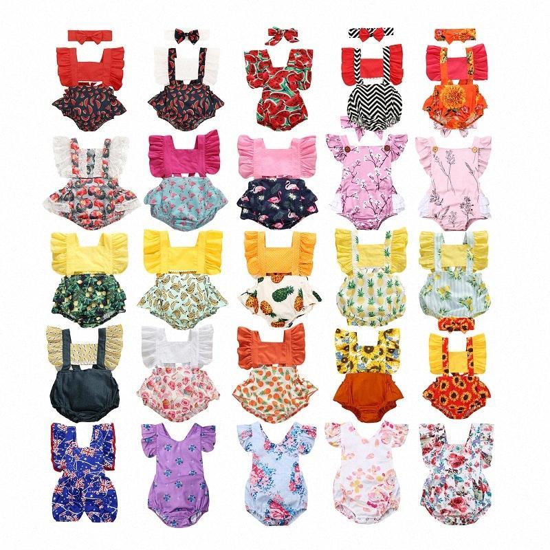 0-24М Симпатичные новорожденных Baby Girl Romper одежды Полное собрание сочинений для печати Tank Ромпер Princess Девушки Лето Одежда ERNi #