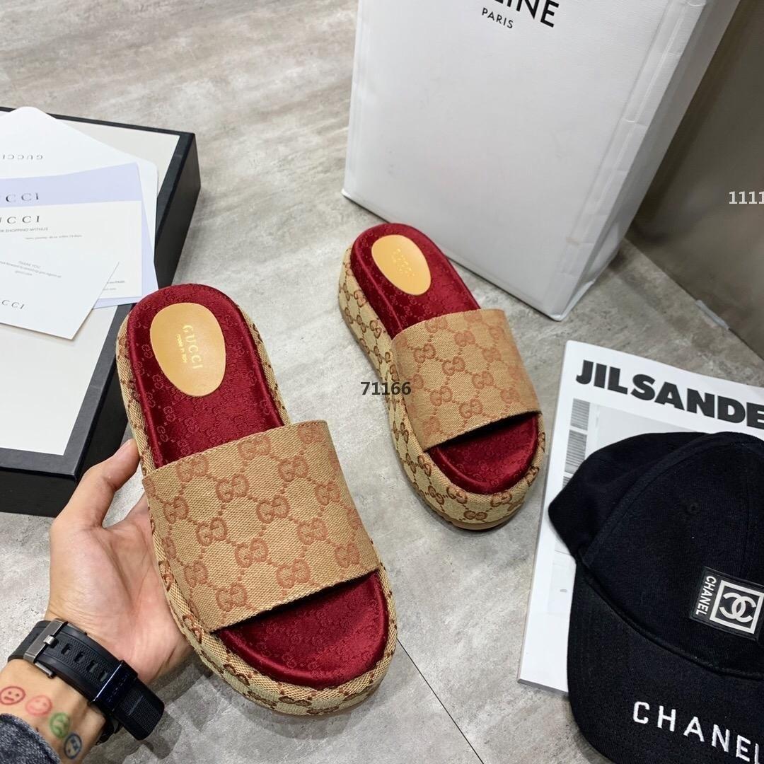 717 роскошных дизайнер 526 летние случайные толстым дном тапочки женщин дизайнер холст сандалии моды роскошные женские туфли свободная перевозка груза s