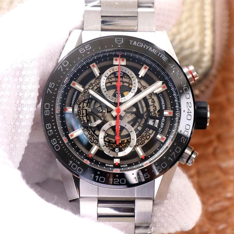 Резиновый ремешок Автоматический Механический диаметр 45 мм Марка Часы Мужчины Смотреть тонкую стальную часовую ремешок Дизайнер Часы Водонепроницаемый
