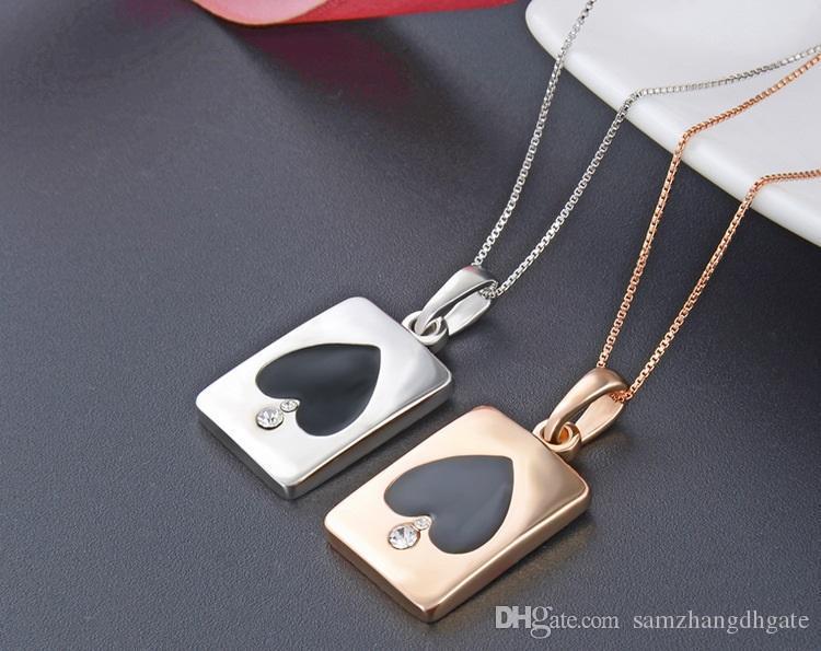 regali di giorno del San Valentino F86 ciondolo in argento di alta qualità ciondoli in argento sterling S925 S925 poker ciondolo epossidica accessori di stile della coppia