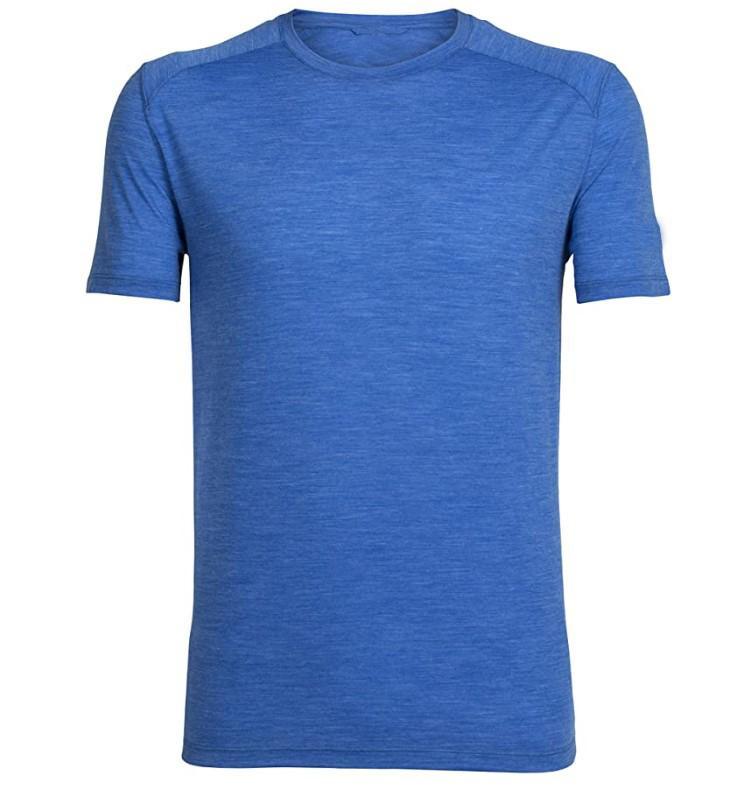 Hommes laine mérinos T-shirt de base de couche de laine Tech T hommes 100% Merino Outdoor Shirt Anti-humidité Respirant Odeur Taille S-XXL