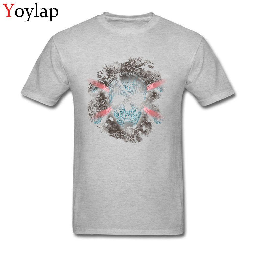 Classique Cyber Skull T-shirt drôle de conception hommes d'impression 3D Casual Mode manches courtes T-shirt Big Taille XXL