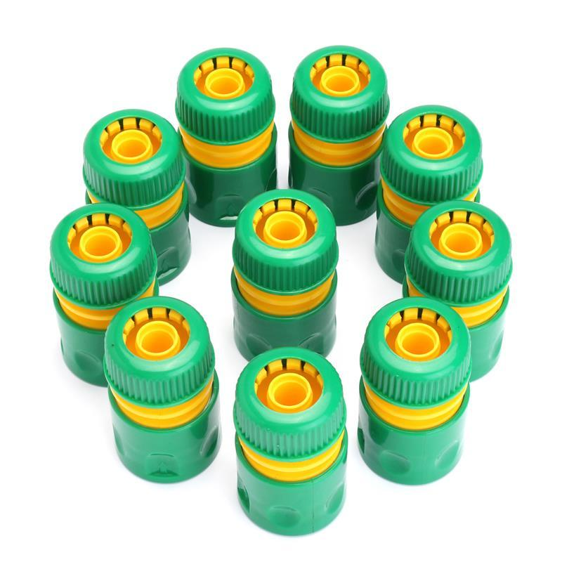 New 10Pcs 1/2 inch Hose Garden Tap Water Hose Pipe Connector Quick Connect Adapter Fitting Watering