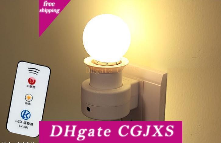 Bases E27 lâmpada com controlador remoto 3w levou lâmpada 160 -250v 40w 50 / 60Hz