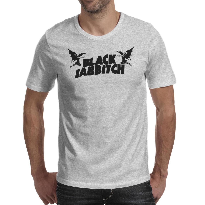 Mode Hommes Ozzy Osbourne Une soirée sur le Crazy Train col rond T-shirt noir Amis graphique chemises Black Sabbath Devilon Bat Art
