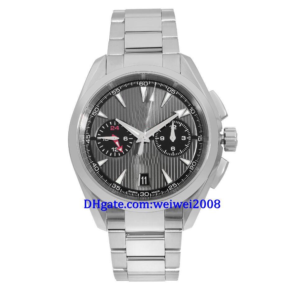 De haute qualité de qualité supérieure Argent cadran gris acier automatique Mens Watch 46mm style vestimentaire