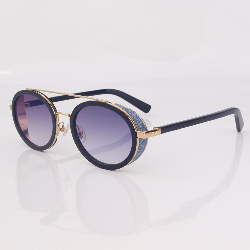 Orijinal kutusu ile sim moda degrade gri mercek kadınlar göz aşınma ile En kaliteli Popüler Marka oval güneş gözlüğü kadınlar