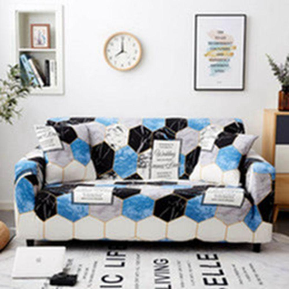 High Quality sofa cover elastic blue series corner cover for living room Multi-person of Home Furniture Protector cover