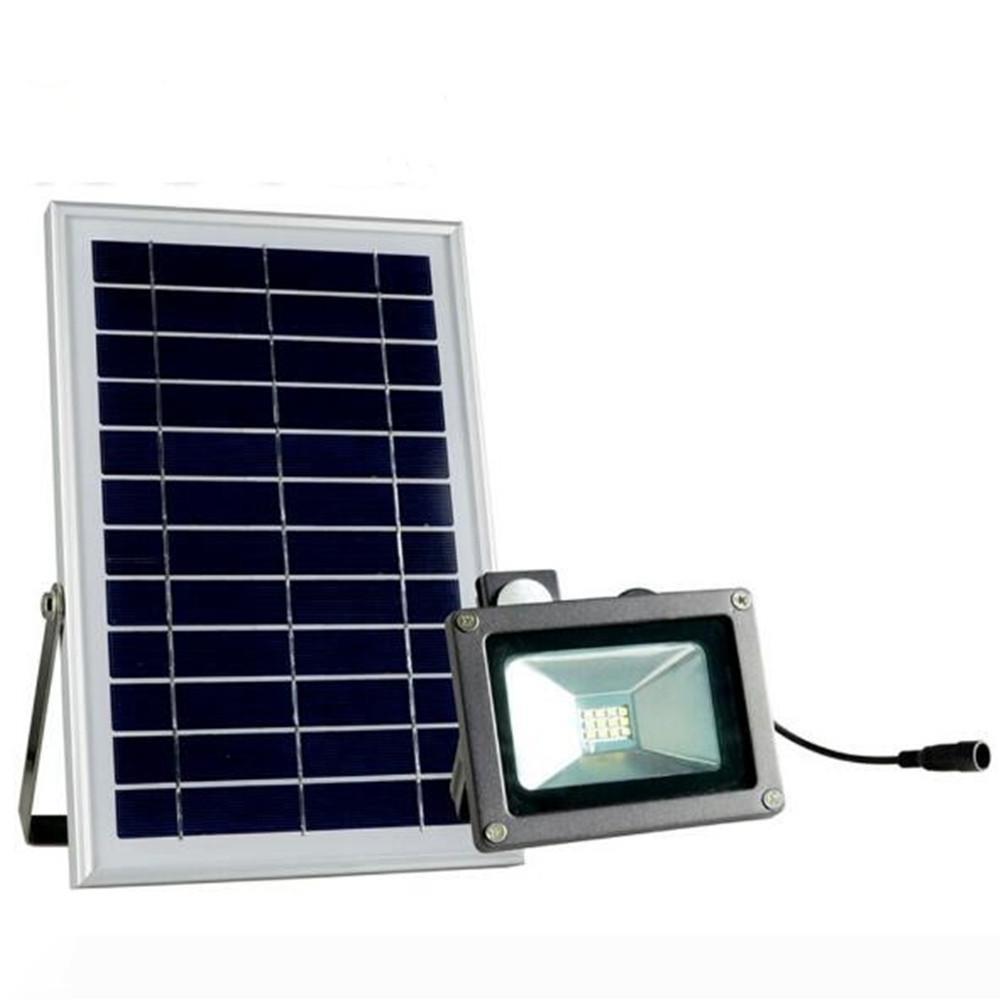 8pcs 6V 6W 12 LEDs 2835 SMD LED Motion Sensor Solar Projector IP65 Waterproof Garden Outdoor Rua Spot Light