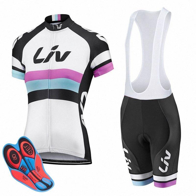 2017 Jersey de ciclo mujer conjunto LIV MTB bike la ropa de verano ropa de la bicicleta Ciclismo Maillot Conjunto Conjunto Ropa Ciclismo KkU7 #