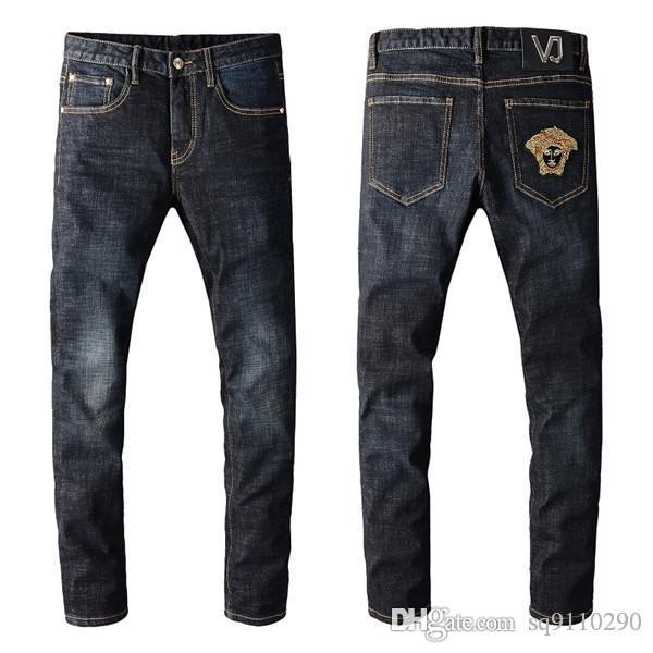 Der Luxus-Master des Trend Designer Hosen für Männer entwickelten hochwertigen Jeans ist ein Verbrecher Entwurf für Männer