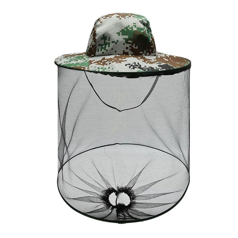 # H40 Открытый Hat Велоспорт Mosquito Resistance Hat Bug Bee Насекомое Net Mesh Head Face Protector Cap Рыбалка Drop Доставка