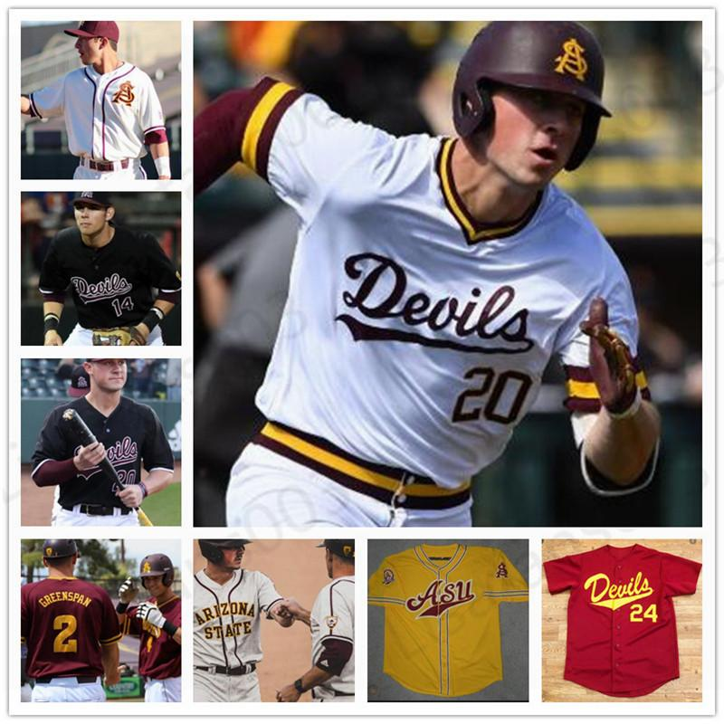 Пользовательского ASU Arizona State College Baseball сшитого Барри Bonds Реджи Джексон Спенсер Torkelson Дрю Swift Hunter Скачок Джерси