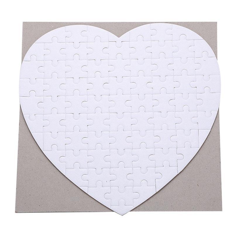 Suisse en forme de coeur Sublimation Consommables vierges Matériel Jigsaw Impression Photo Puzzle de transfert de chaleur doux pour enfants enfants 2 3xm c2