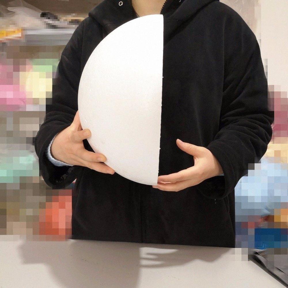 30cm / 11.81in / 300mm medio blanco sólido de espuma de poliestireno bolas ForWedding decoración Modelado de bricolaje flor Accesorios bola 11.81in / 300mm dUuI #