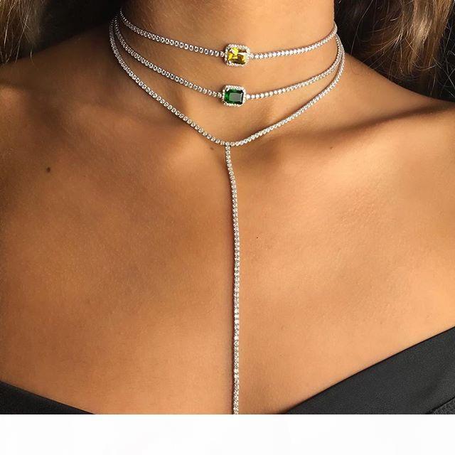nouveau est arrivé mariage engaegment mariée collier de diamants choker tennis de chaîne cz bijoux à la mode dame élégance magnifique