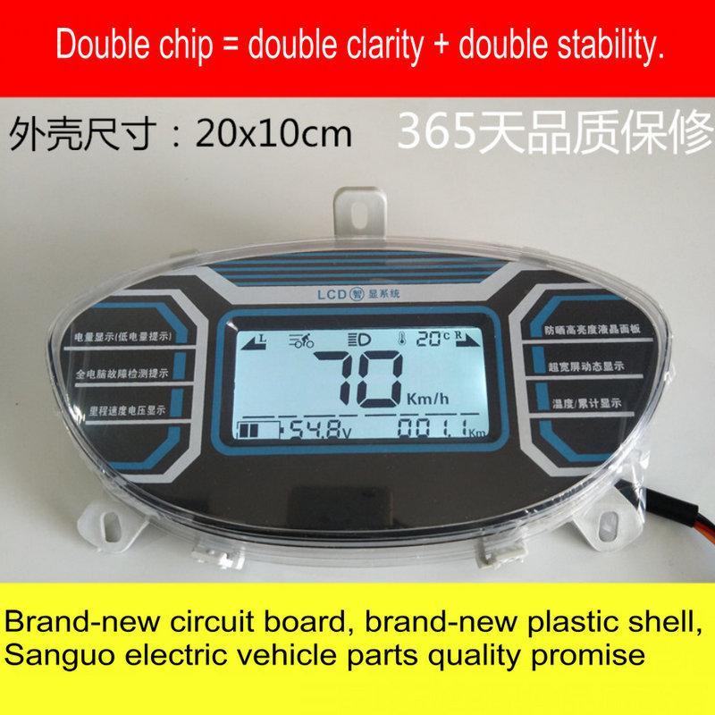 سيارة كهربائية لوحة أجهزة القياس GTR سيارة رمز البطارية متر LCD أداة الجهد السرعة عداد المسافات السلطة