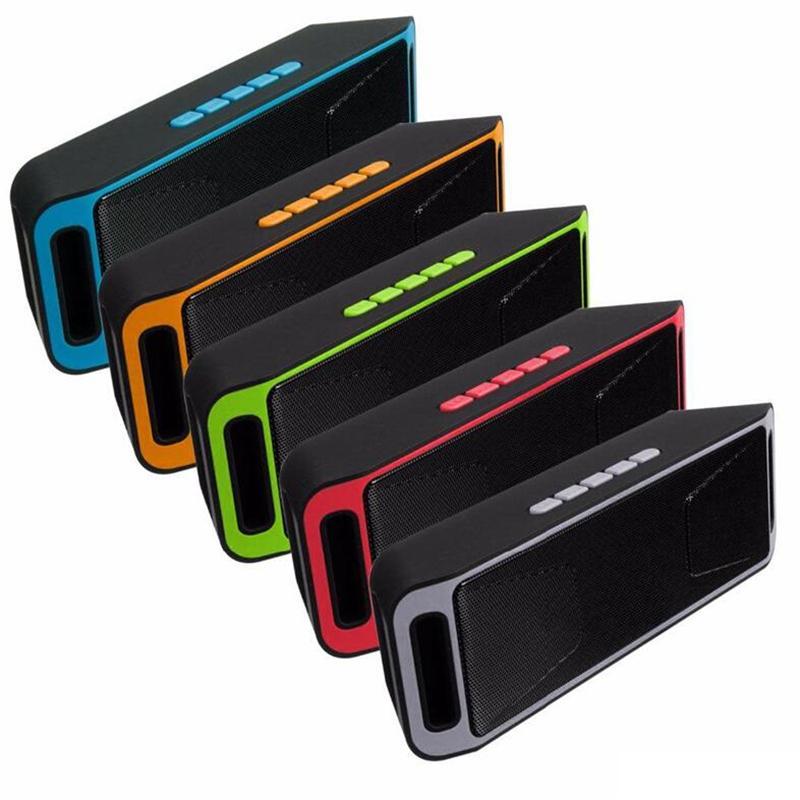 راديو SC208 مكبرات صوت صغيرة محمولة بلوتوث لاسلكية بصوت عال مشغل موسيقى القوى الكبرى مضخم دعم TF USB FM